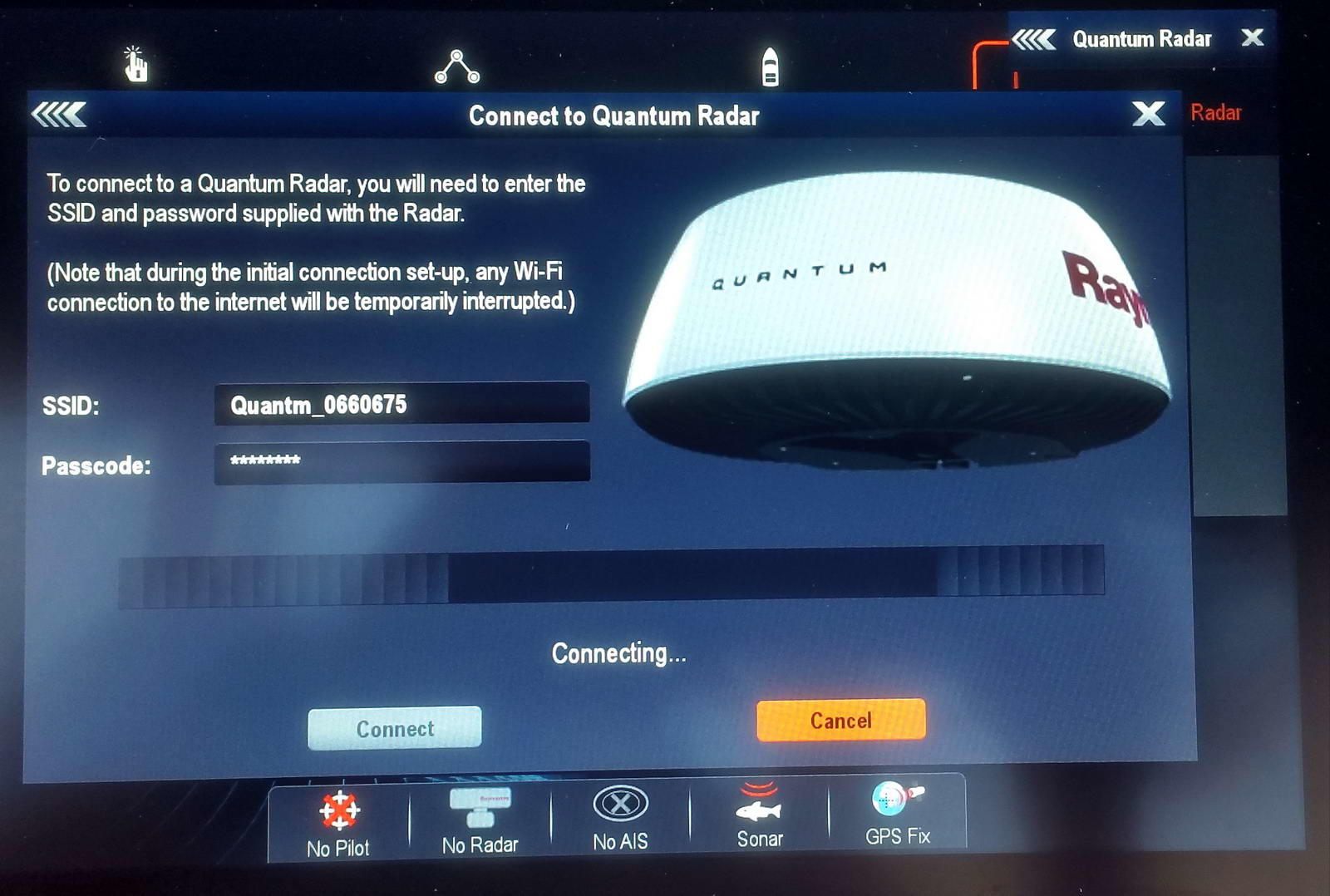 Raymarine_Q24_WiFi_connection_screen