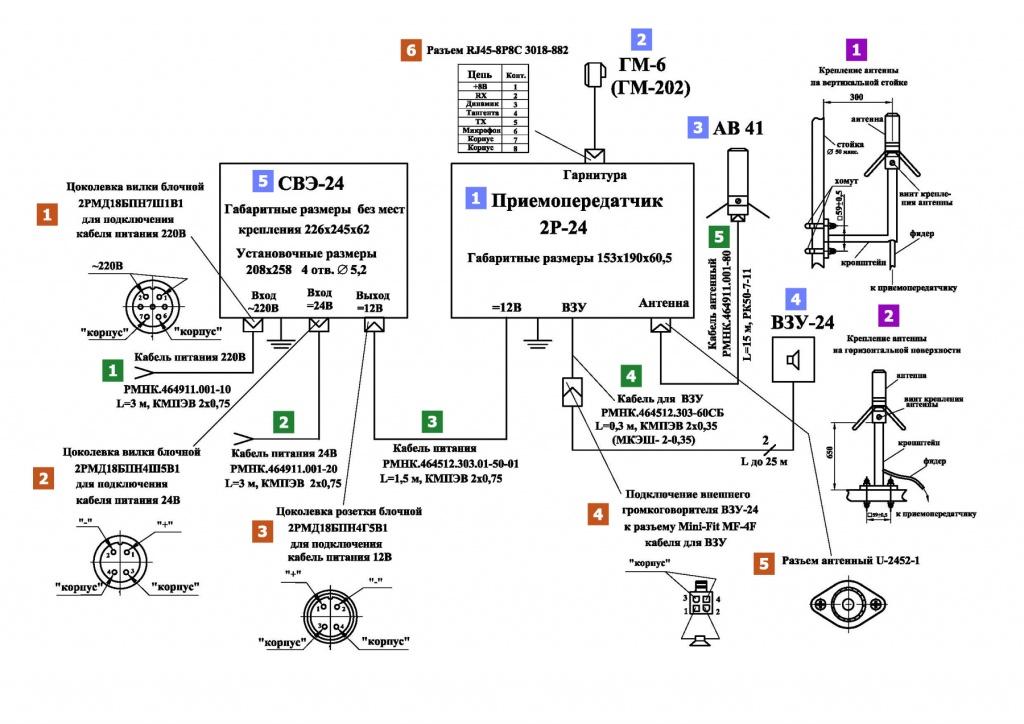 Схема установка рации
